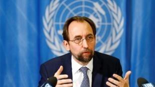 Le haut commissaire aux droits de l'homme des Nations unies Zeid Ra'ad Zeid al-Hussein.