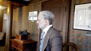 巴黎鐵塔第三層復原的古斯塔夫·埃菲爾(Gustave Eiffel)在自己的公寓中蠟像。