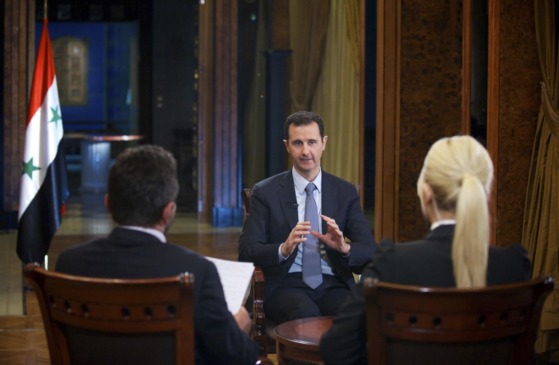 Le président syrien Bachar el-Assad lors de l'une de ses interviews par une télévision turque, le 4 octobre 2013.