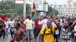 Wasu 'yan kungiyar IPOB masu ra'ayin kafa kasar Biafra