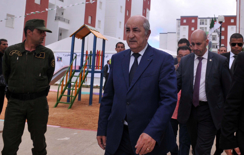 Le nouveau Premier ministre algérien Abdelmadjid Tebboune avant sa nomination le 3 avril 2017 à Alger.