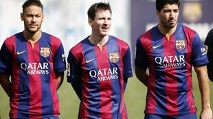 Messi da Neymar da Suarez na Barcelona