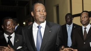 Blaise Compaoré à Addis-Abeba lors d'un sommet de l'Union africaine, le 28 janvier 2011.