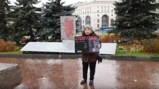 В Москве прошли одиночные пикеты акции «Бессмертный ГУЛАГ»