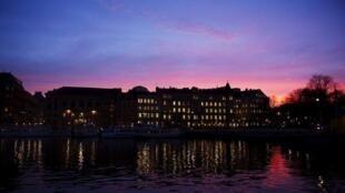 瑞典首都斯特哥爾摩夜景