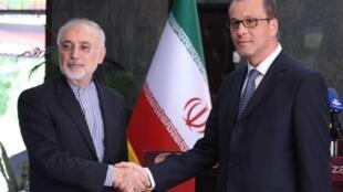 دیدار مدیرکل موقت آژانس انرژی اتمی با رییس سازمان انرژی اتمی ایران