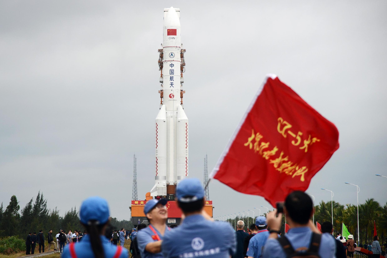 Tại nơi phóng hỏa tiễn Trường Chinh 5, trung tâm không gian Văn Xương (Wenchang), Hải Nam. Ảnh chụp ngày 21/12/2019.