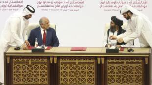 توافقنامه صلح آمریکا و طالبان در دوحه امضا شد.