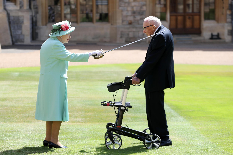 100-year-old Tom Moore became a coronavirus lockdown hero by raising millions for British health charities
