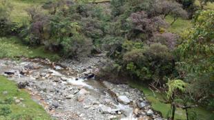 Vista del río Putumayo, Colombia.