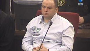Veselin Vlahovic, le « monstre de Grbavica », lors de son jugement devant la cour de Bosnie-Herzégovine, le 29 mars 2013.
