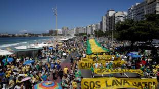 Manifestação contra a corrupção no Rio de Janeiro