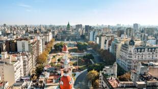 Vue de Buenos Aires. Plus de 350 artistes présenteront des œuvres dans le cadre de Bienalsur.