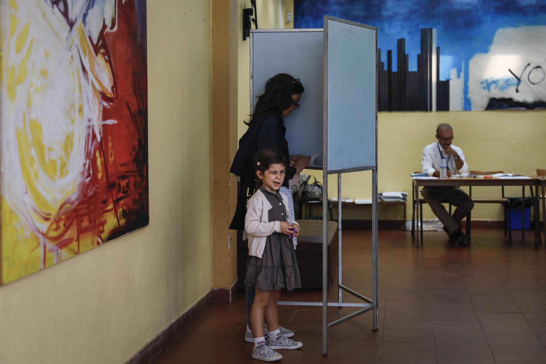 Mesa de voto em Lisboa. 6 de Outubro de 2019.