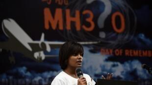 Un an après la disparition de l'avion MH370, des familles de disparus se sont réunies à Kuala Lumpur notamment pour éviter que le dossier MH370 ne tombe dans l'oubli, le 8 mars 2015.