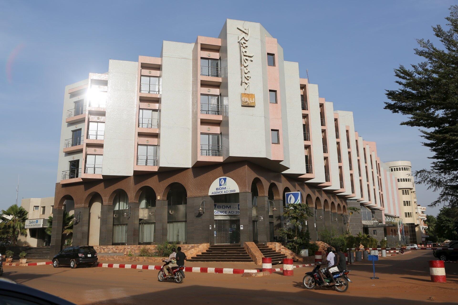 L'hôtel Radisson à Bamako, cible d'une attaque terroriste sanglante le 20 novembre 2015.