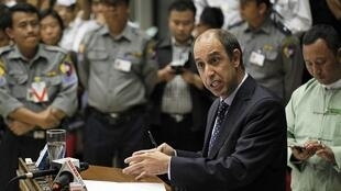 Tomas Ojea Quintana, U.N. special envoy on human rights in Myanmar, 19 February 2014.