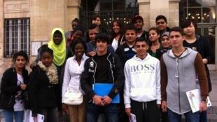 Les élèves de la classe allophone du Lycée Bartholdi.
