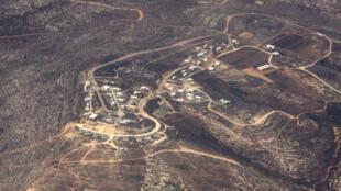 Une vue la colonie « sauvage », non-reconnue par l'Etat hébreu, d'Amona, en Cisjordanie.