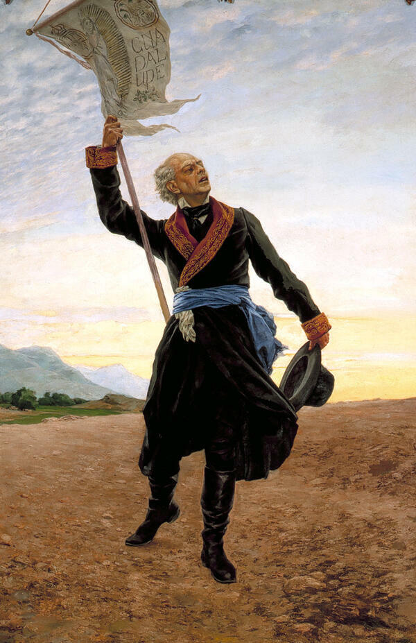 El cura Miguel Hidalgo y Costilla, conocido en México como Padre de la Patria.