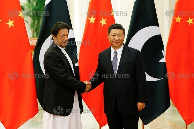 中國國家主席習近平會晤巴基斯坦總理。