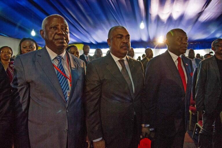 Les membres de l'opposition congolaise Vital Kamerhe (D), Samy Badibanga (C) et le Dr Pierre Matusila (G).