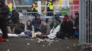 瑞典的一个难民营