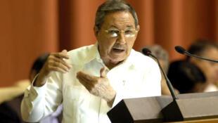 El presidente de Cuba Raúl Castro