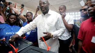 Georges Weah, nouveau président du Liberia.