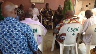 L'assemblée des conseillers du roi des Bobo Mandaré à Bobo Dioulasso, le 8 novembre 2014.