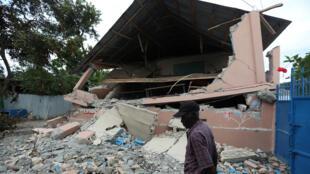 Une école détruite par le séisme, à Gros Morne (Haïti), le 8 octobre 2018.