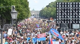 German demonstrators against mask rules and other restrictions tried to storm parliament in the biggest of several European protests over the weekend
