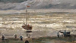 梵高在1884年绘制的《斯海弗宁恩的海滩》