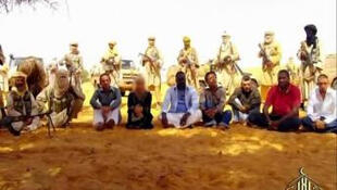 Al-Jazeera footage of the hostages seized in Niger by Al-Qaeda in the Islamic Maghreb