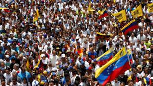Dubban jama'a na zanga zanga a babban birnin Venezuela Caracas