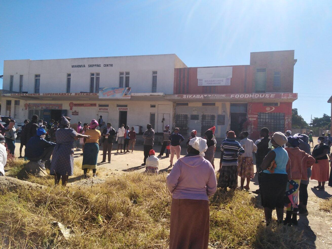 Residents of Mpopoma, a Bulawayo, Zimbabwe suburb, demonstrate that local shops are not taking their bond notes for payment, which is legal tender