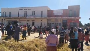 Residents of Mpopoma, a suburb in Zimbabwe's second city, Bulawayo, protest moves by local shops to refuse accepting bond notes as payment.