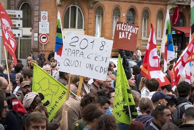 Manifestação contra a reforma do Código do Trabalho, a 12 de Setembro de 2017, em Toulouse.