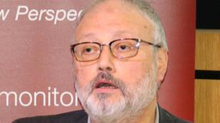 沙特记者贾马尔9月29日伦敦出席一个会议时发言