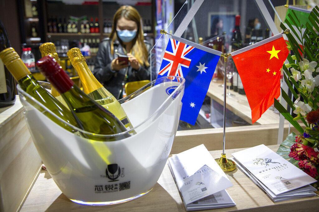 Australie - Chine - vin