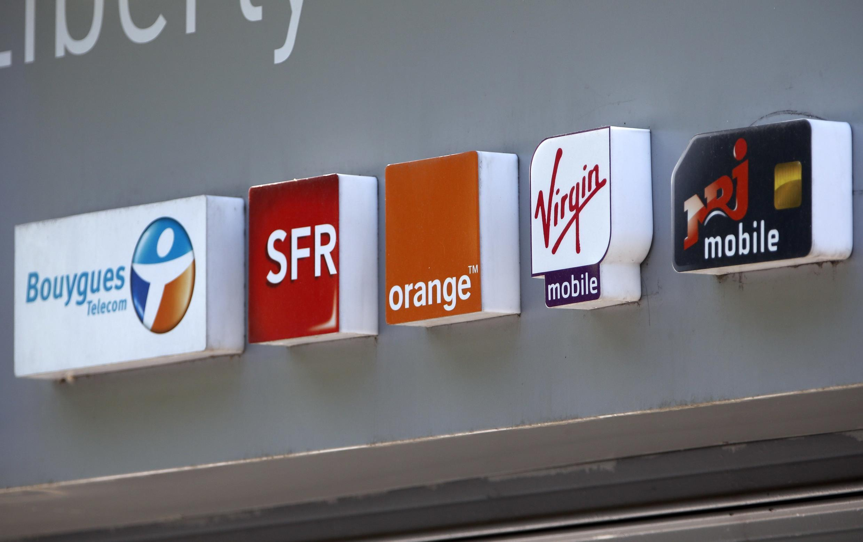 French mobile operators' logos