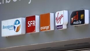French mobile operators' logos