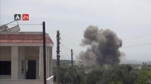 遭受戰火洗劫的敘利亞伊德利卜省