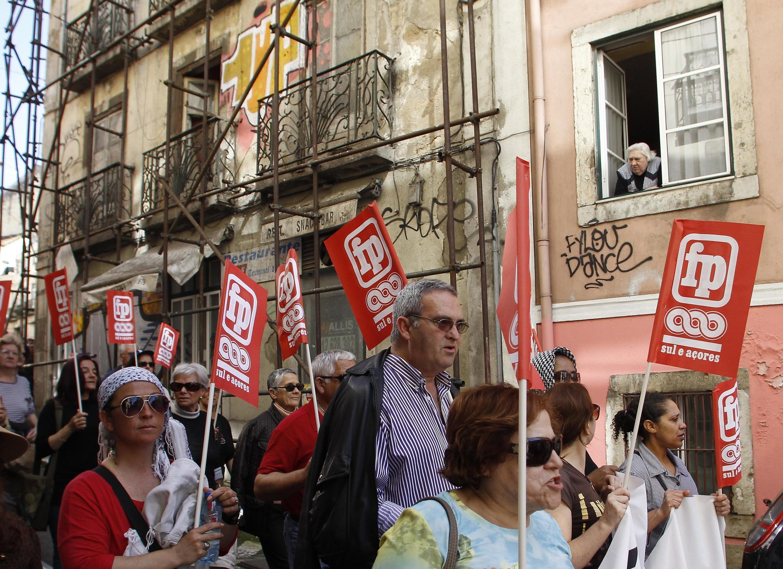 Manifestação em Lisboa contra a pobreza, que não para de crescer no país
