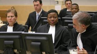 Le banc des procureurs au procès de Jean-Pierre Bemba à la Haye, le 22 novembre 2010.