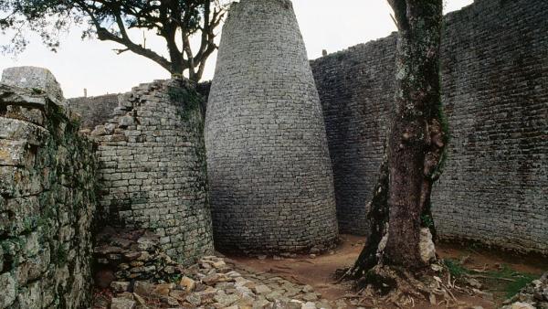 Tour conique sur la grande enceinte, Great Zimbabwe.