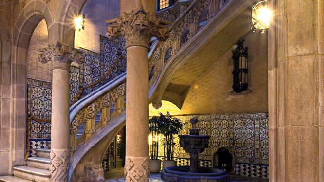 Interior do Palácio Baró de Quadras