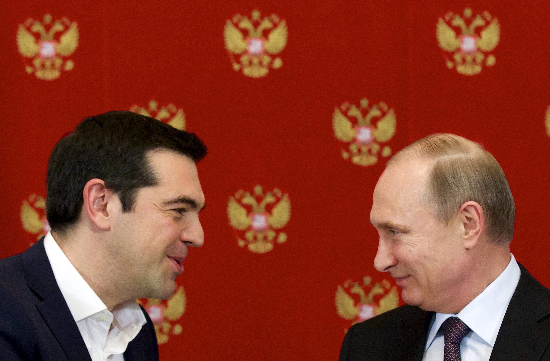 Greek Prime Minister Alexis Tsipras met Russian President Vladimir Putin on 8 April