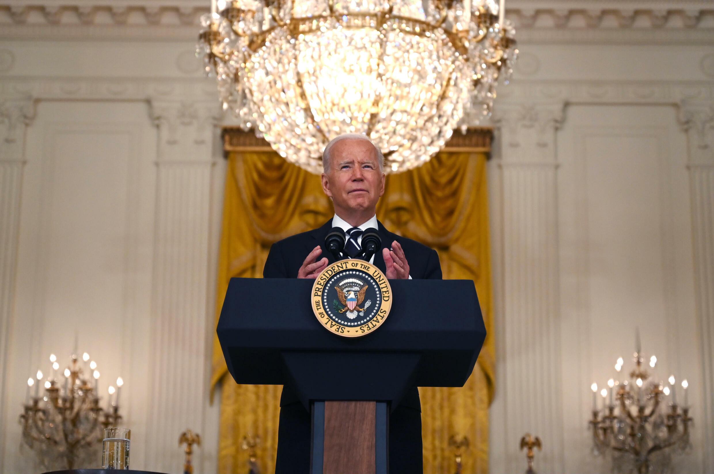 El presidente de Estados Unidos, Joe Biden, en la Casa Blanca en Washington, D.C., el 18 de agosto de 2021