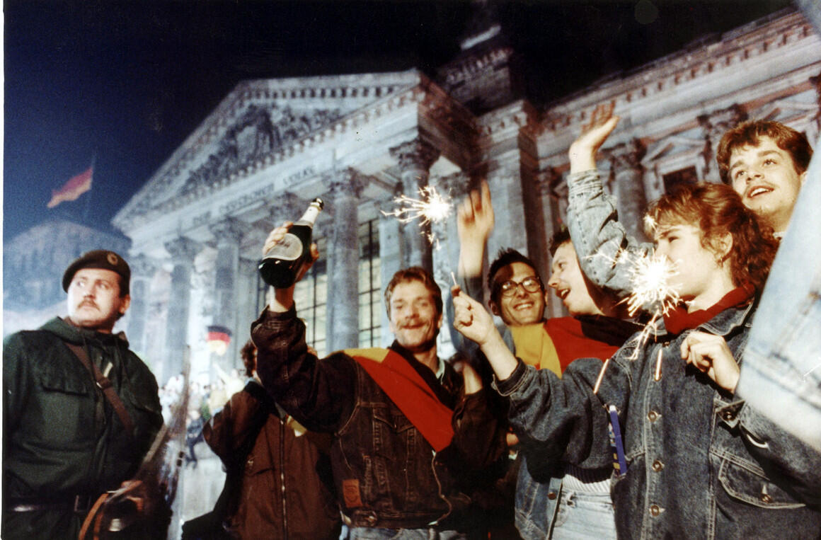 1990年10月3日兩德統一資料圖片